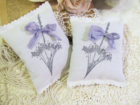 Vintage Parasol Deluxe Lavender Sachet Bridal by auntiesjammies