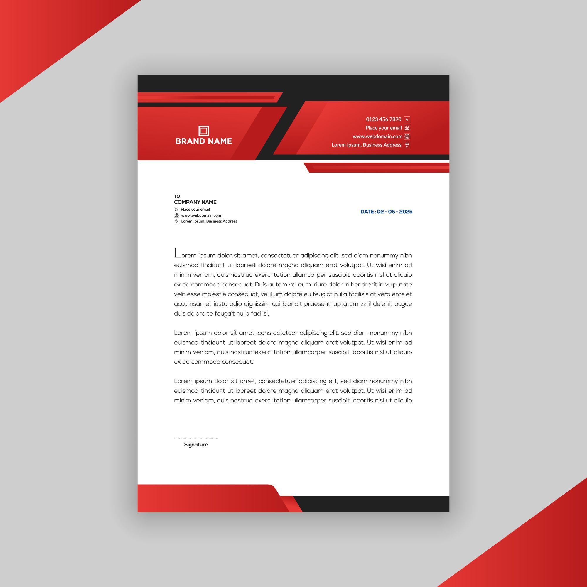 personal letterhead templates free download letterhead