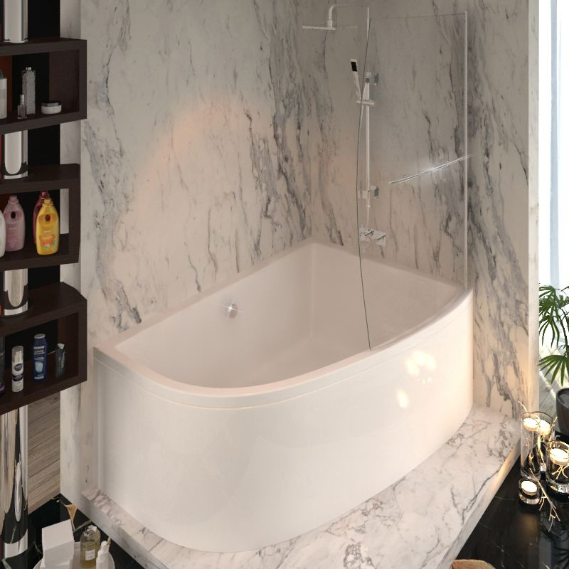 Clia RH Corner Bath And Panel And Screen Buy Online at Bathroom City ...