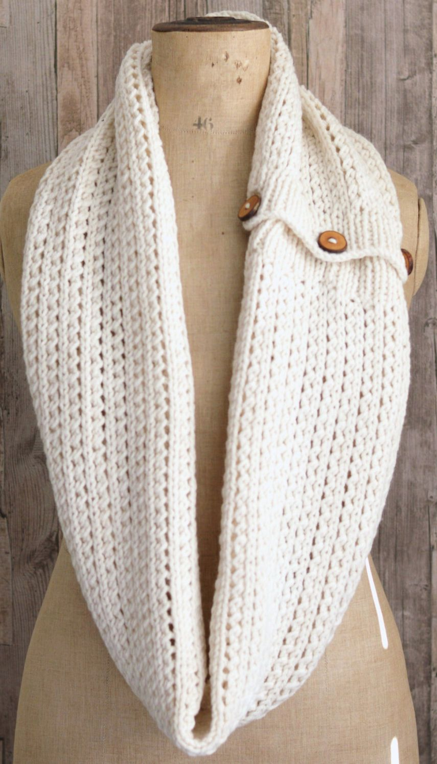 Knitting Pattern for Easy Rib Mesh Infinity Scarf - #ad ...