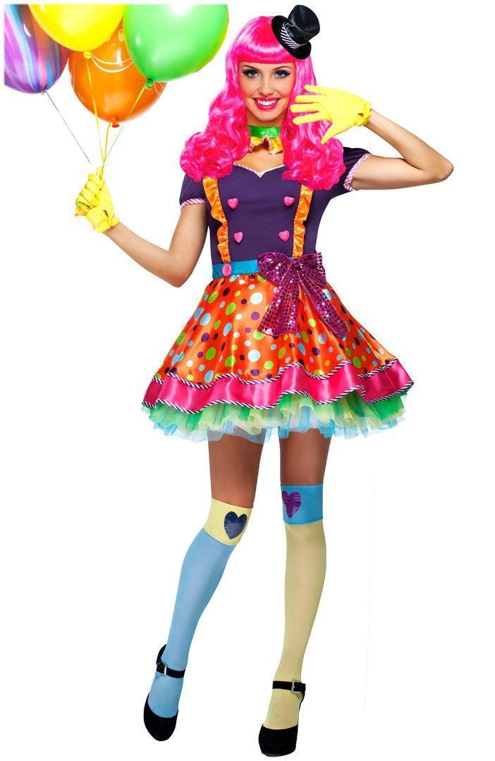 Bubble Gum Girlparty Clown Womens Costume Vestidos De