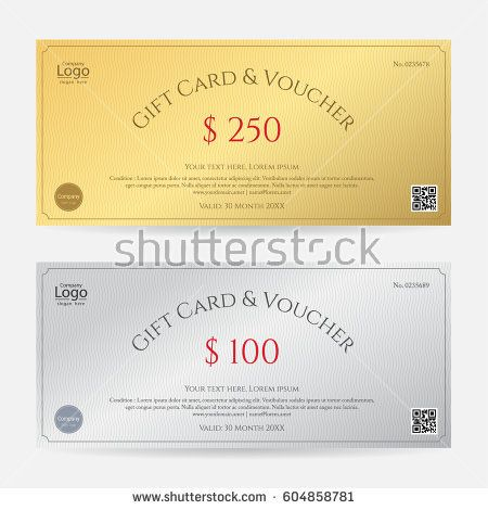 Gift Certificate Voucher Template Adorable Elegant Gift Voucher Or Gift Card Or Coupon Template For Discount Or .