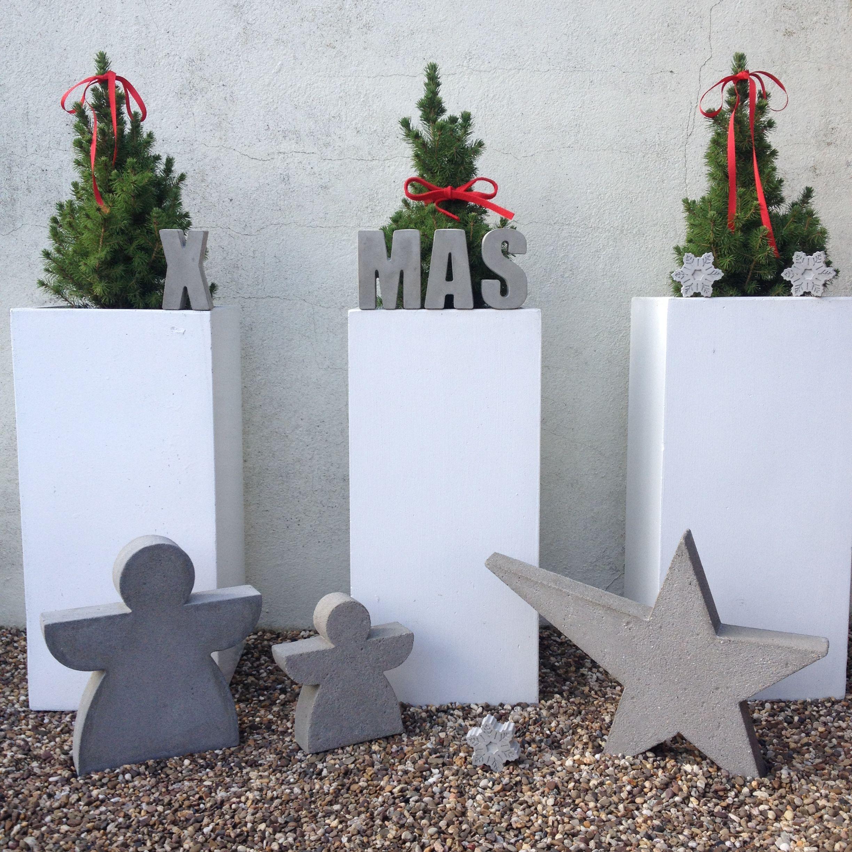 beton weihnachten diy yeso pinterest cemento navidad y macetas de cemento. Black Bedroom Furniture Sets. Home Design Ideas