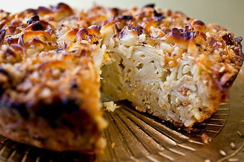 Well-Traveled Kugel -  dairy free.  this one looks goood and has a secret ingredient - peach schnapps!