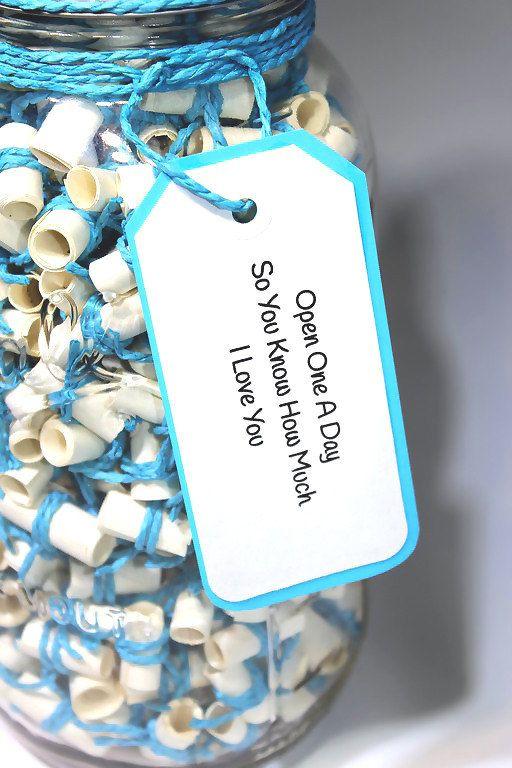 365 Message Filled Mason Jar Deployment Gift Deployment Gifts Mason Jar Gifts Jar Gifts
