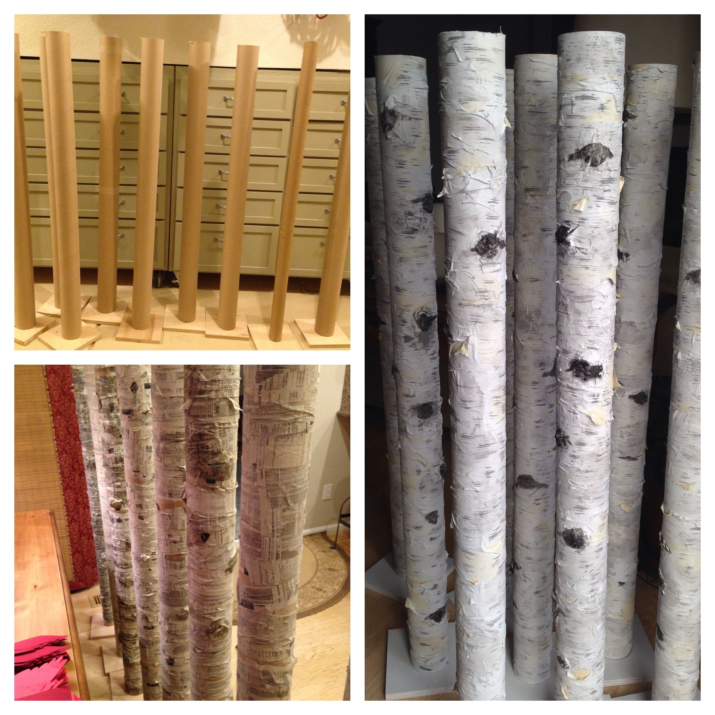 Paper Mache Birch Trees Backdrops Winter Backdrops