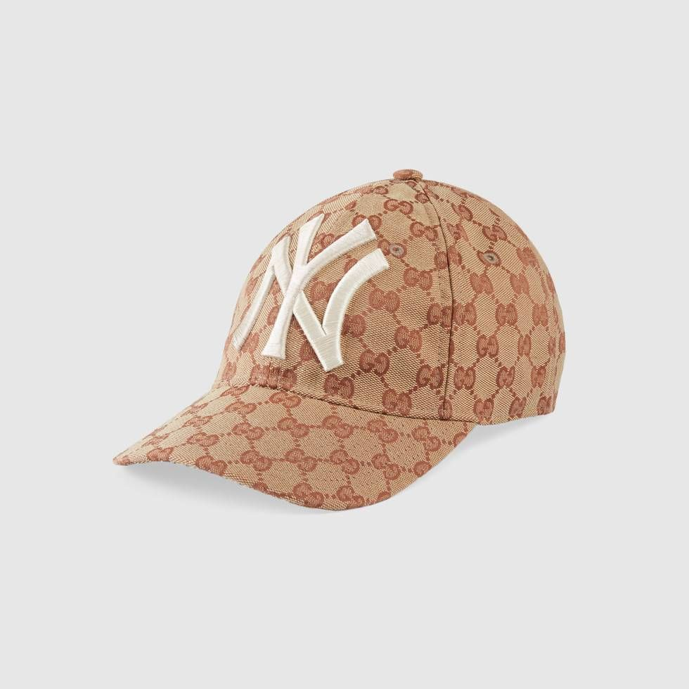 Shop The Baseball Hat With Ny Yankees Patch By Gucci Inspired By The Creative Director S New York Yankees Baseball Ha Baseball Hats Hats For Men Baseball Cap