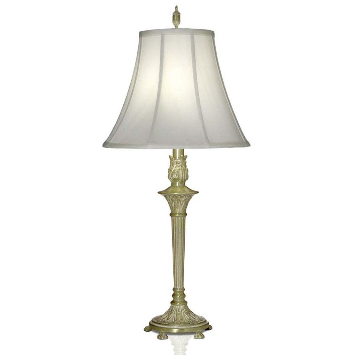 0 003780 33 H 1 Light 3 Way Table Lamp Satin Brass White Antique Regal Licht