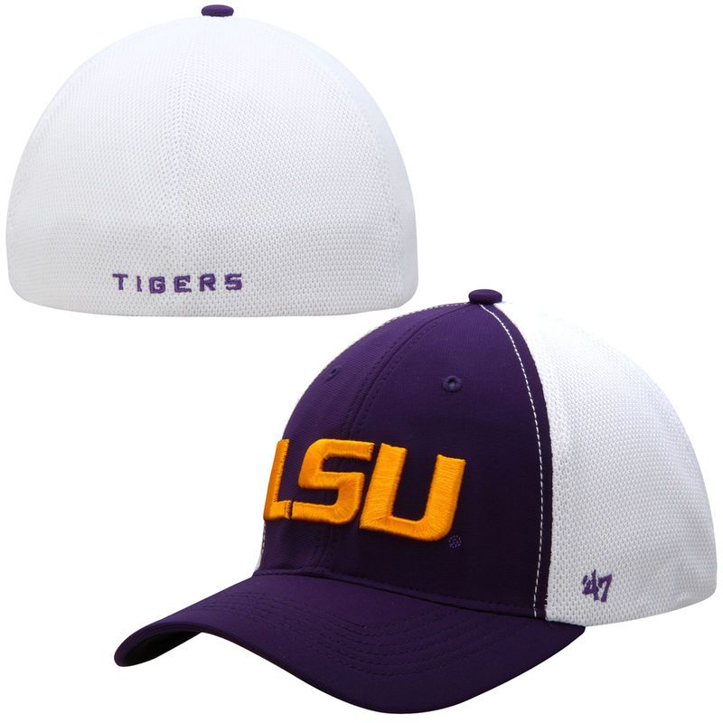 factory authentic 19f66 acb91 LSU Tigers  47 Brand Draft Day Closer Flex Hat - Purple