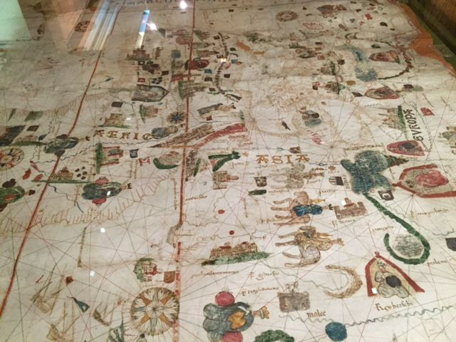 First world map with the Americas represented. Circa 1500. Madrid ...