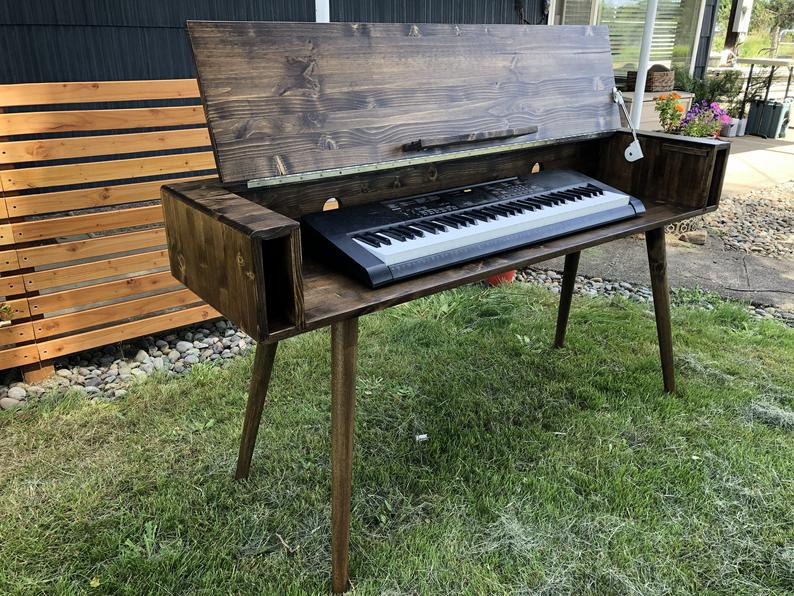 Mid Century Keyboard Stand Piano Stand in 2020 Piano