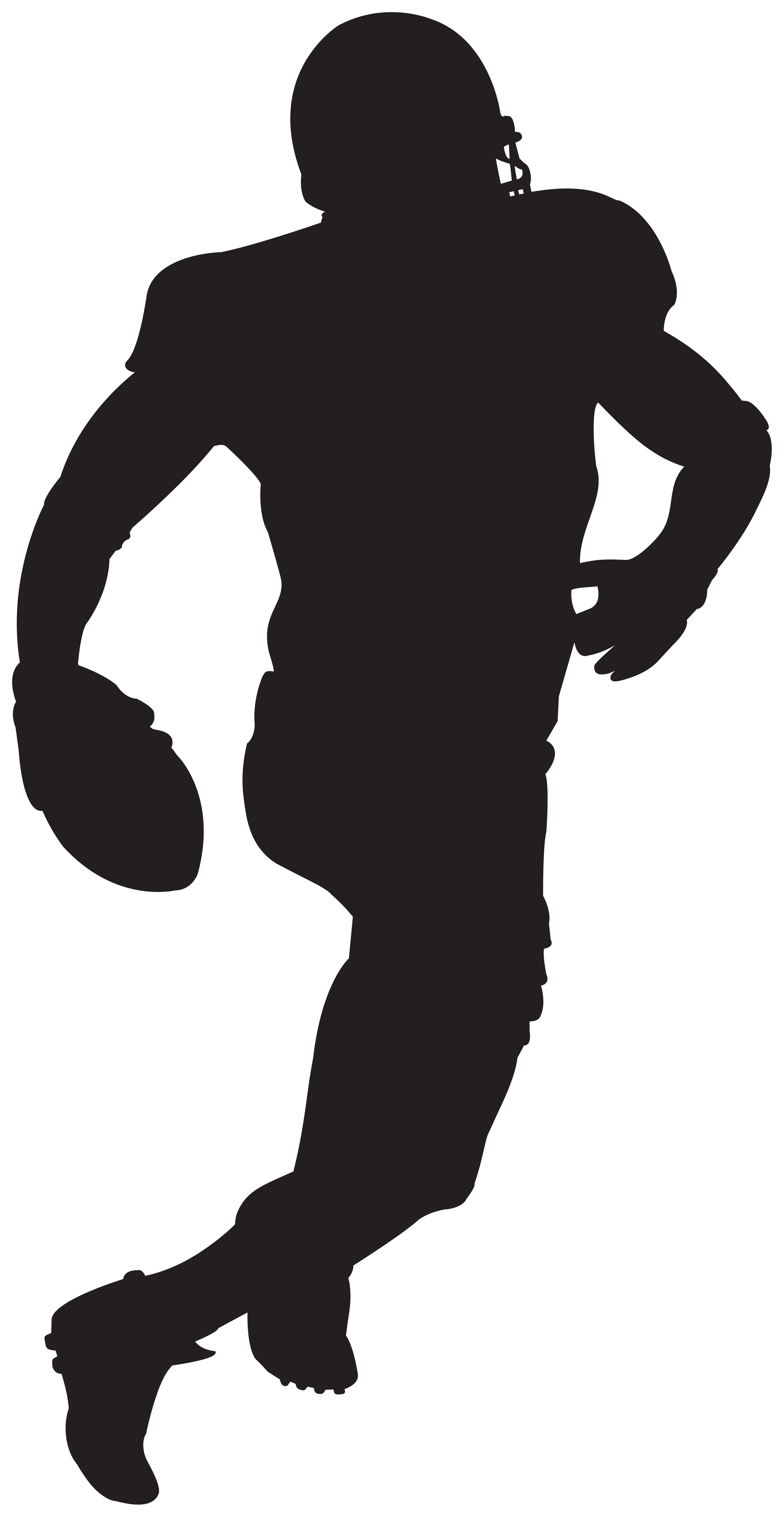 American Football Player Silhouette Png American