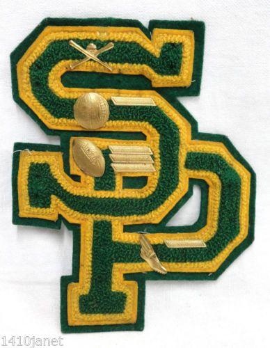 Vintage Sierra Pacific High School Golden Bears Chenille Letter Felt Back Pins   eBay