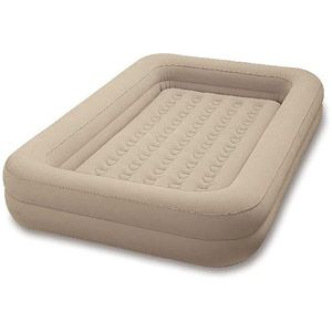 intex kidz travel bedintex toddler airbedno more rolling off the air mattress or just use an inflatable raft lol