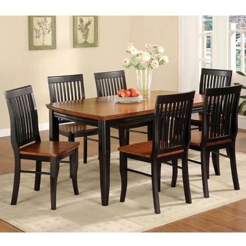 Earlham Mission Style Black Oak Dining Set In 2020 Oak Dining