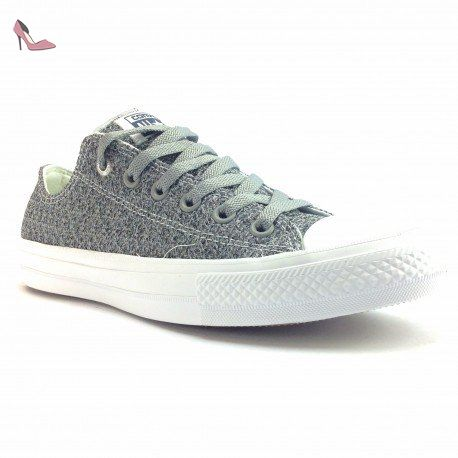 Converse Ct as 2 Ox Basket Weave, Baskets mode pour homme gris gris - - Storm Wind/Mouse/White,
