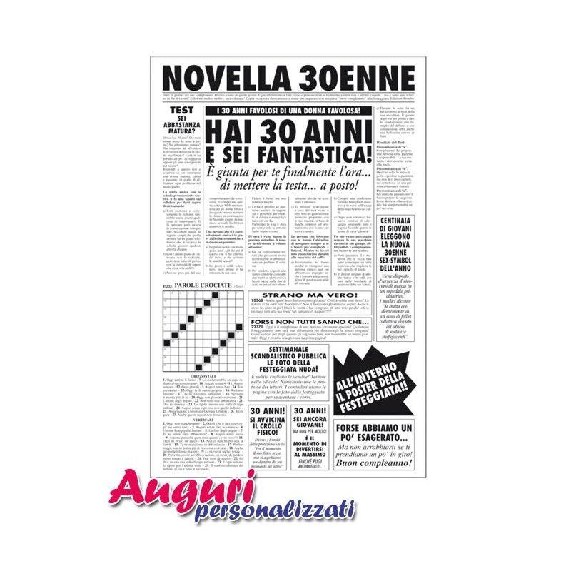 Préférence biglietto-auguri-giornale-compleanno-30-anni-amica.jpg (800×800  VT52
