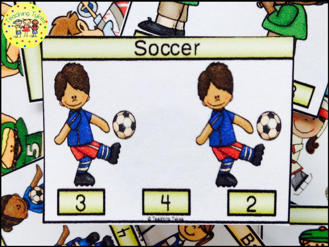 Soccer Activity To Practice Counting Soccer