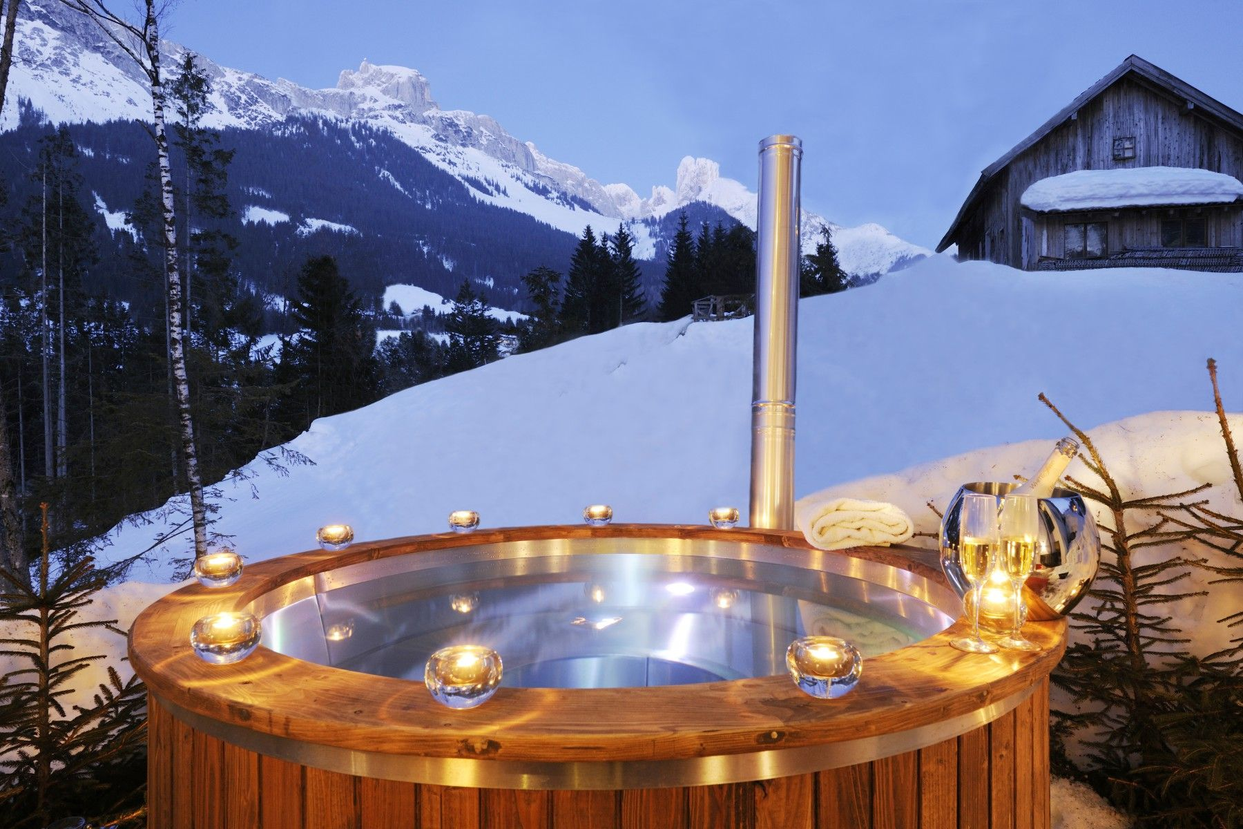 Image result for outdoor hot tubs in winter Beautiful