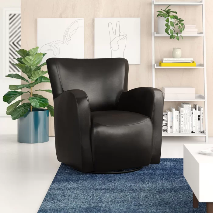 Makson Swivel Armchair In 2020 Swivel Armchair Living Room Coffee Table Upholstered Dining Chairs #swivel #armchair #for #living #room