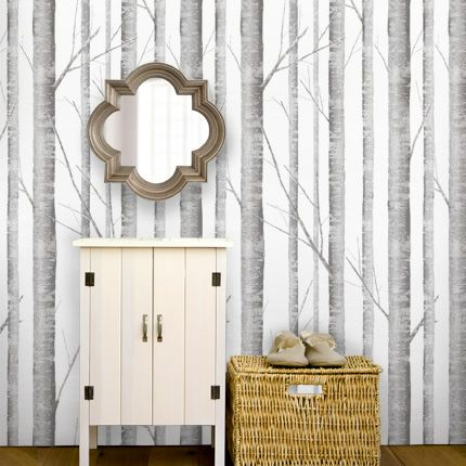 birch tree peel stick fabric wallpaper repositionable simple shapes wall decals furniture - Simple Shapes Wall Design