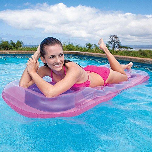 BESTWAY 18 POCKET INFLATABLE FASHION POOL LOUNGER LILO FLOAT SWIMMING AIR BED