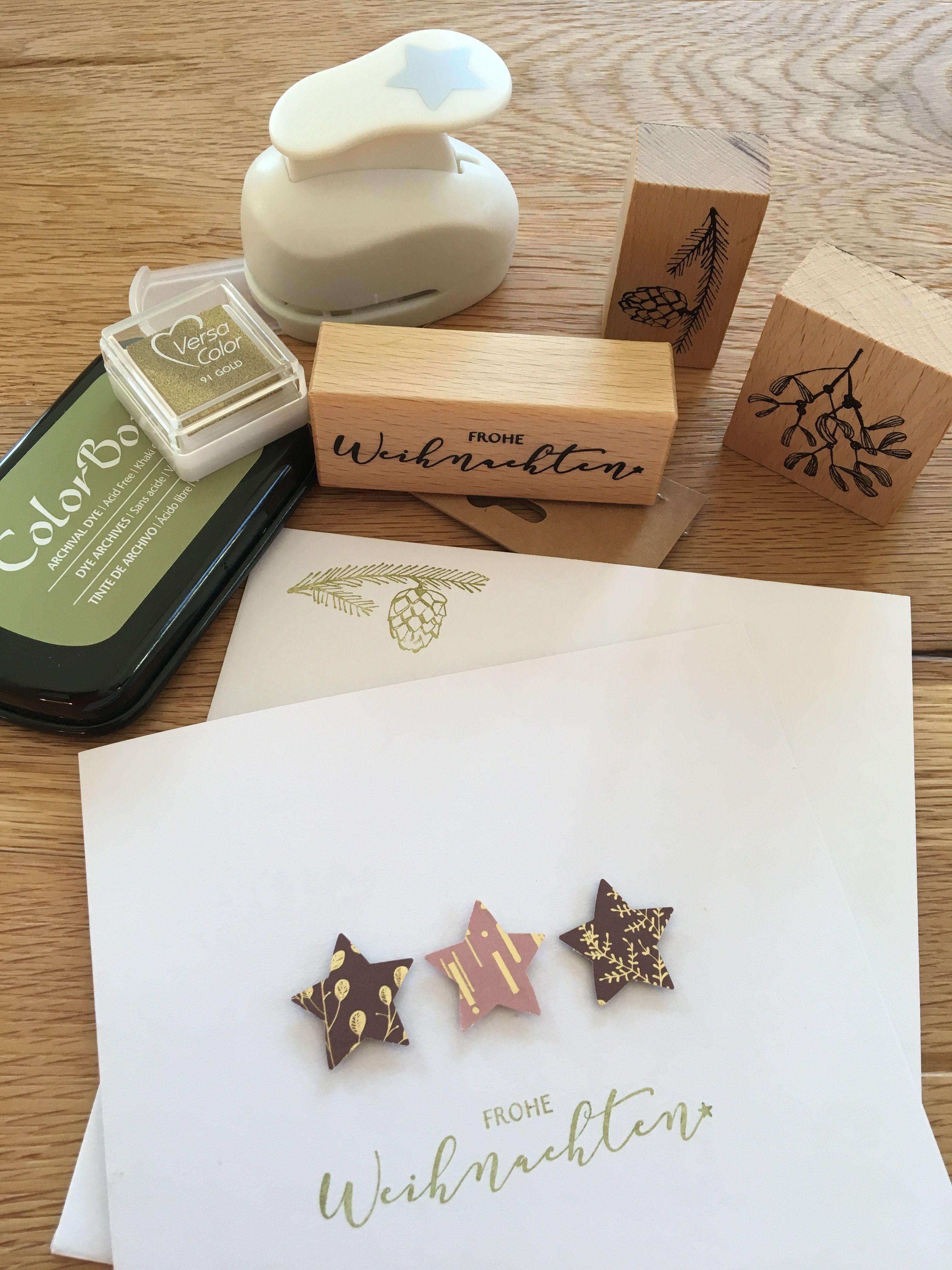 Weihnachtskarten Grusskarten Vorbereitungen Laufen Schlicht Und