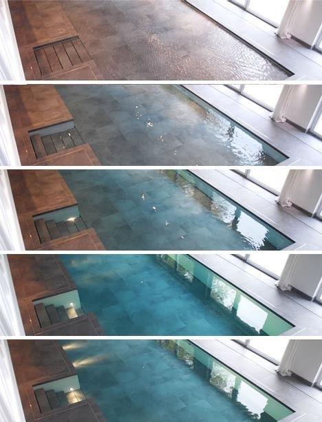 Modern Pool Hidden Floor 2 Indoor Pool Design Secret Rooms Indoor Swimming Pools