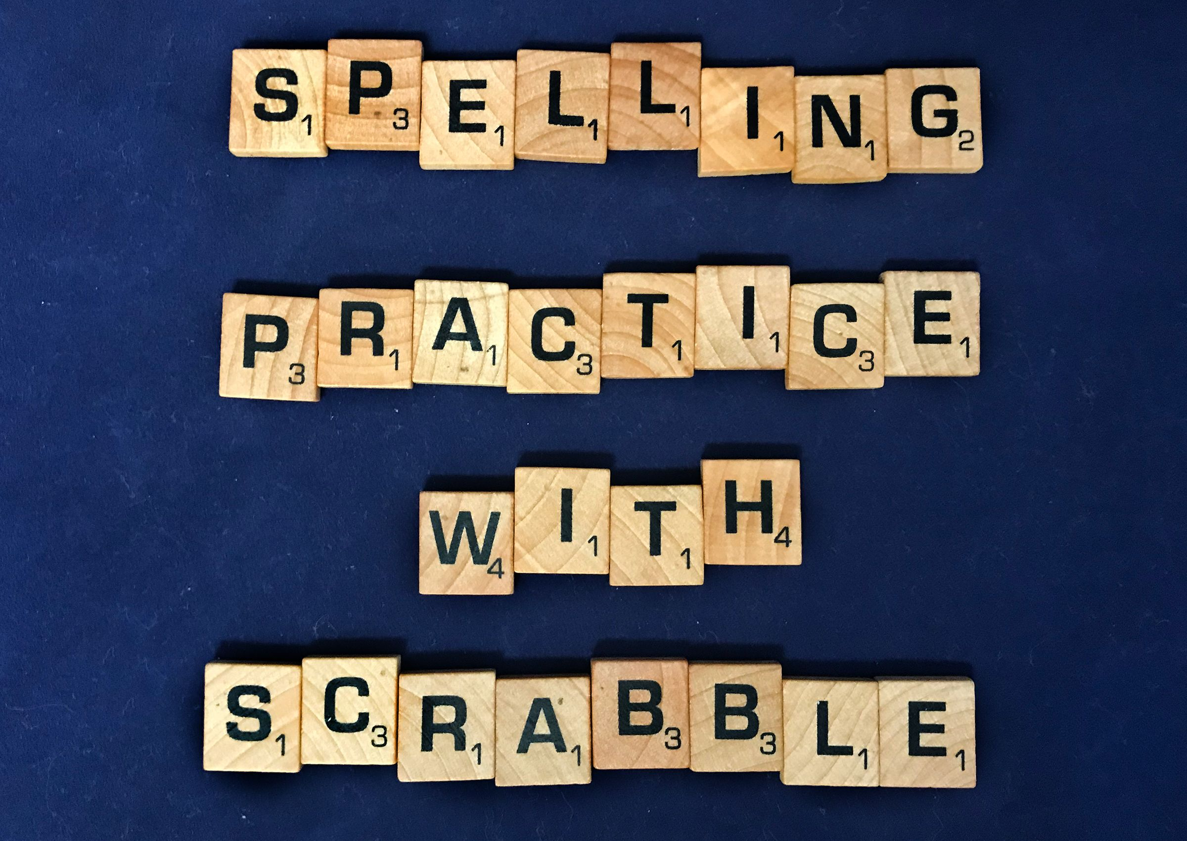 Scrabble Spelling Games
