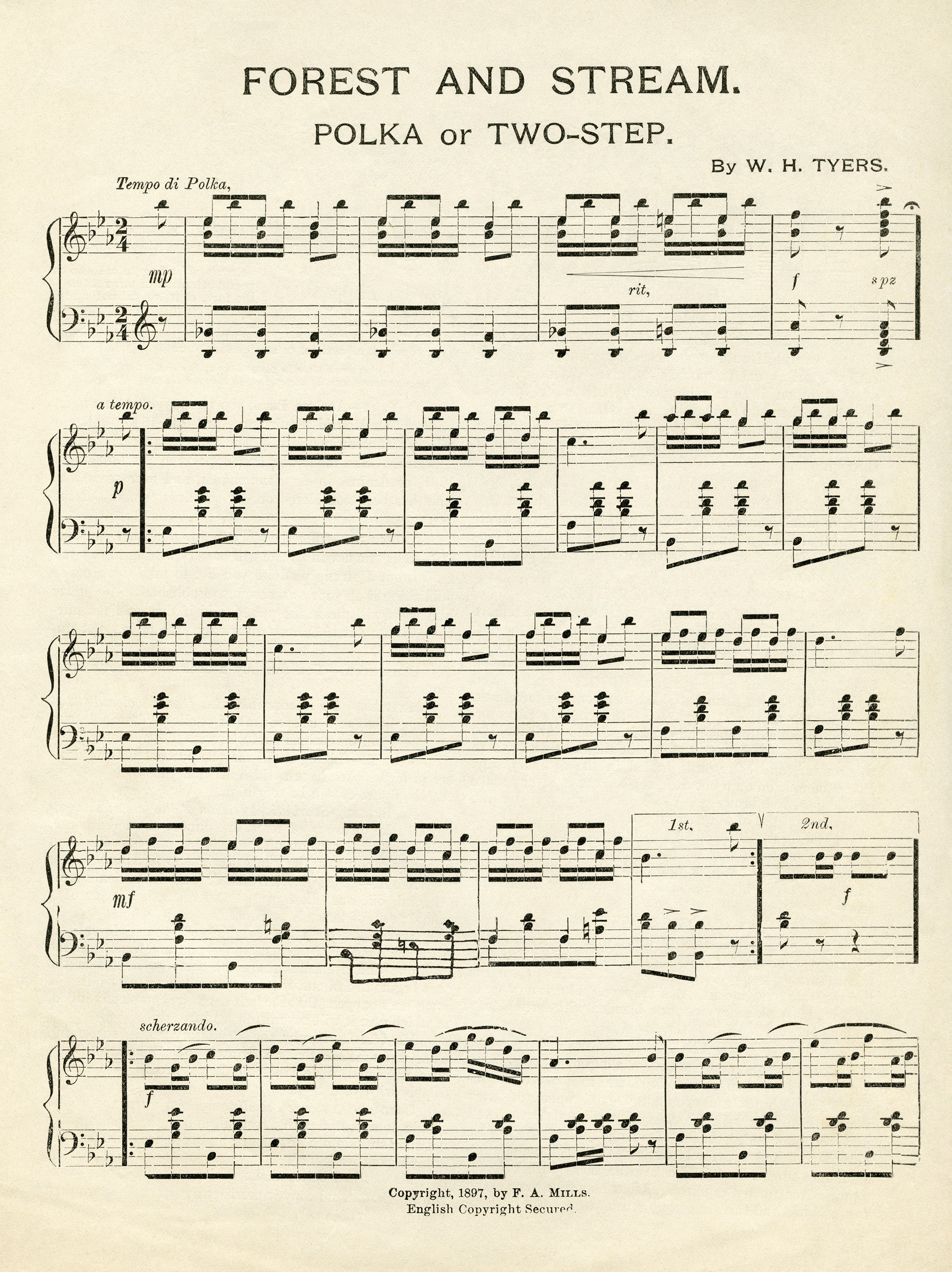 image relating to Printable Sheet Music for Crafts known as Common Sheet Audio Forest and Movement Fonts and Printables