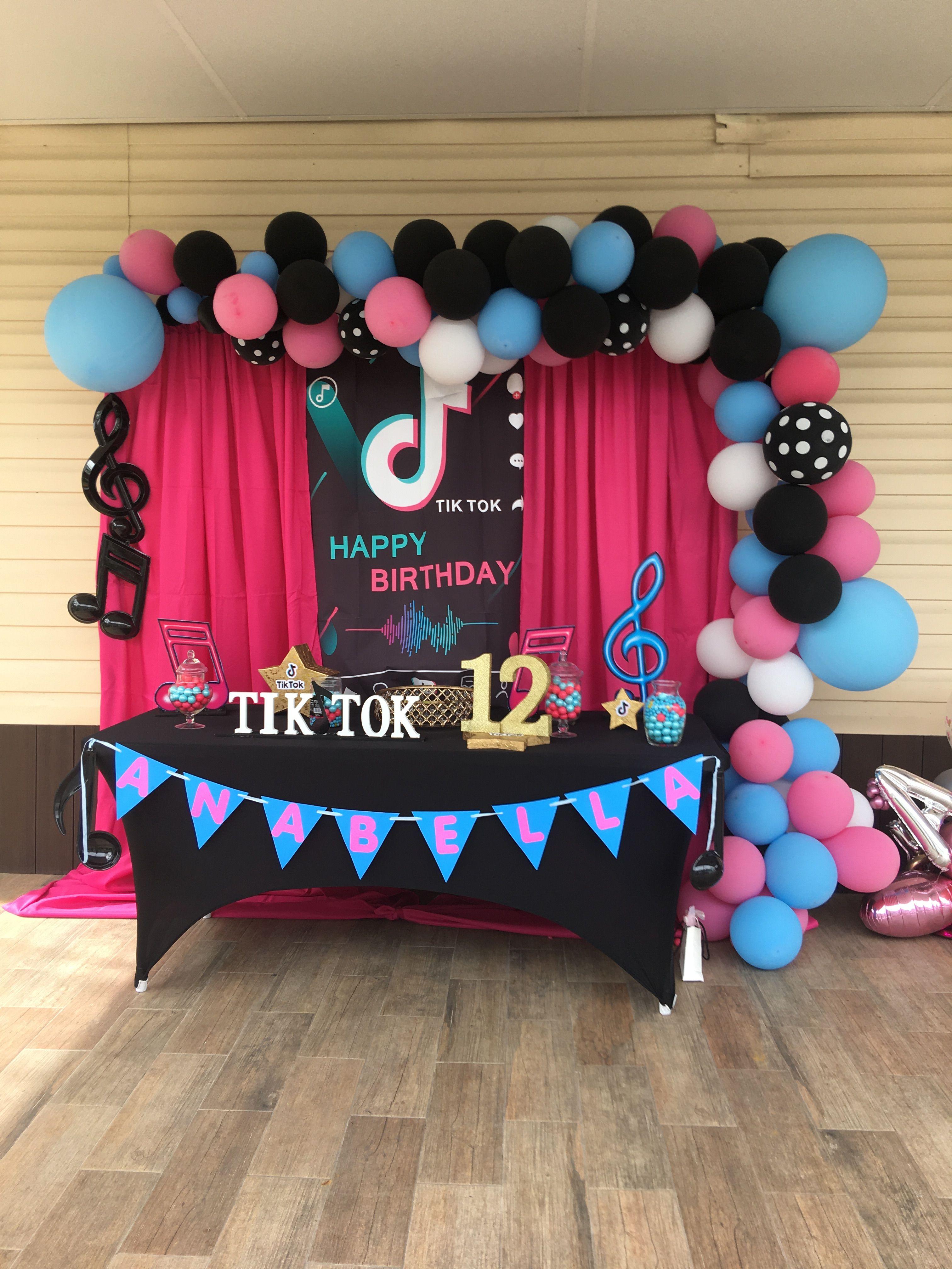 Tiktok Photo Booth Backdrop Birthday Party Themes Photo Booth Backdrop Backdrops For Parties