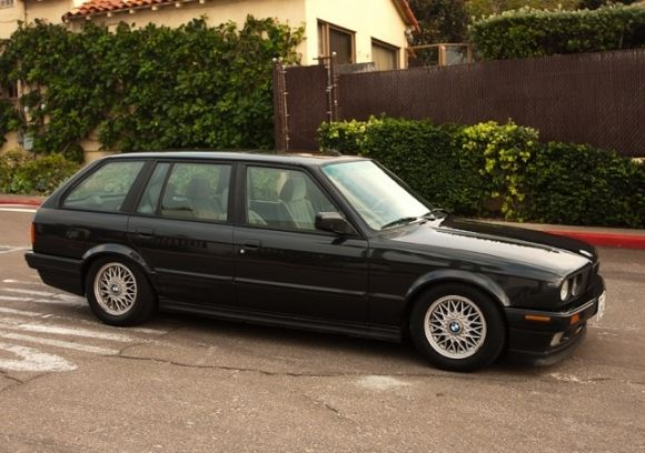 This 1990 BMW E30 325i Touring station wagon is a rare sight in