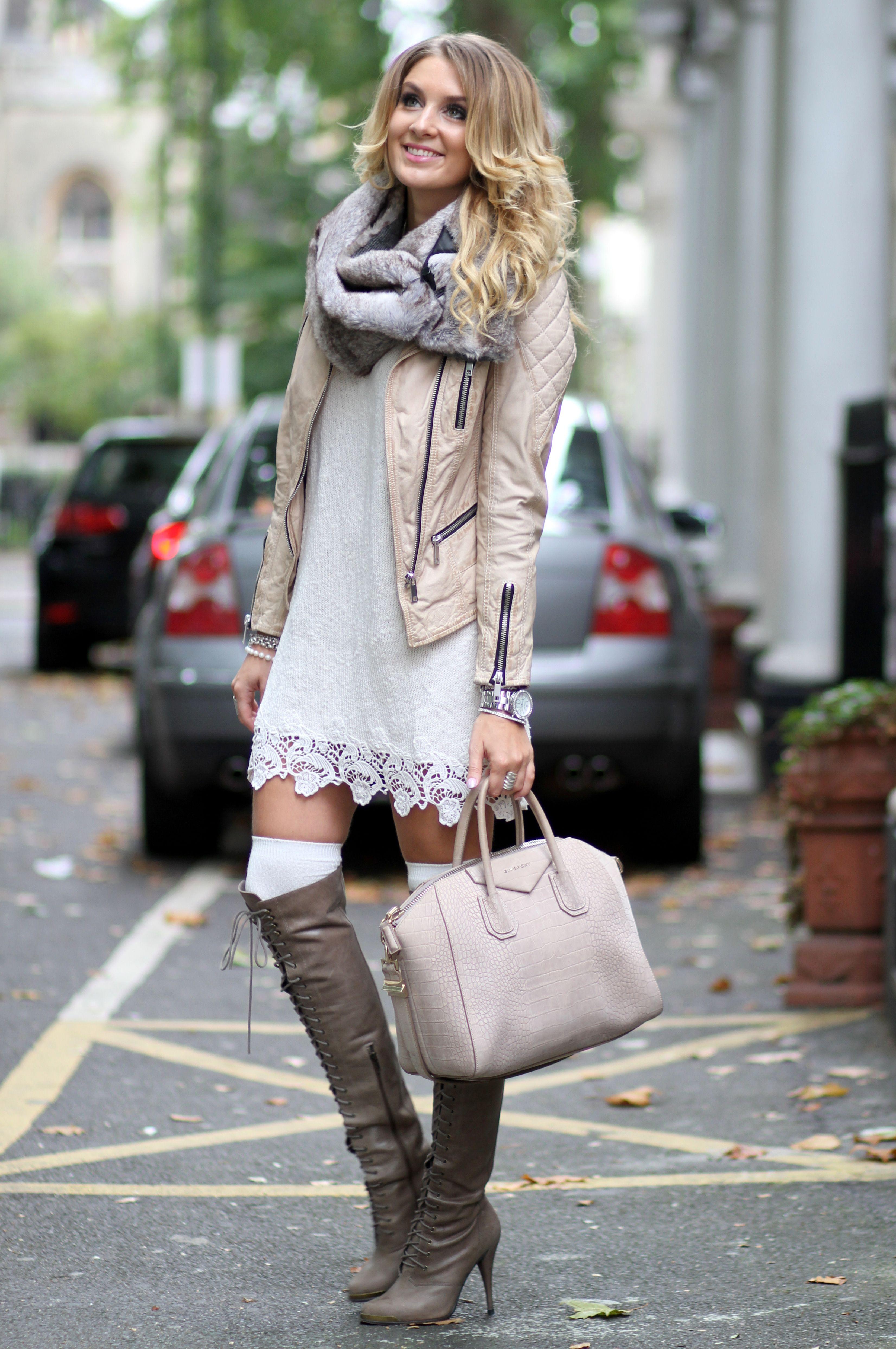 Jofama Leather Jacket Asos Dress H Amp M Men Fur Snood Joie