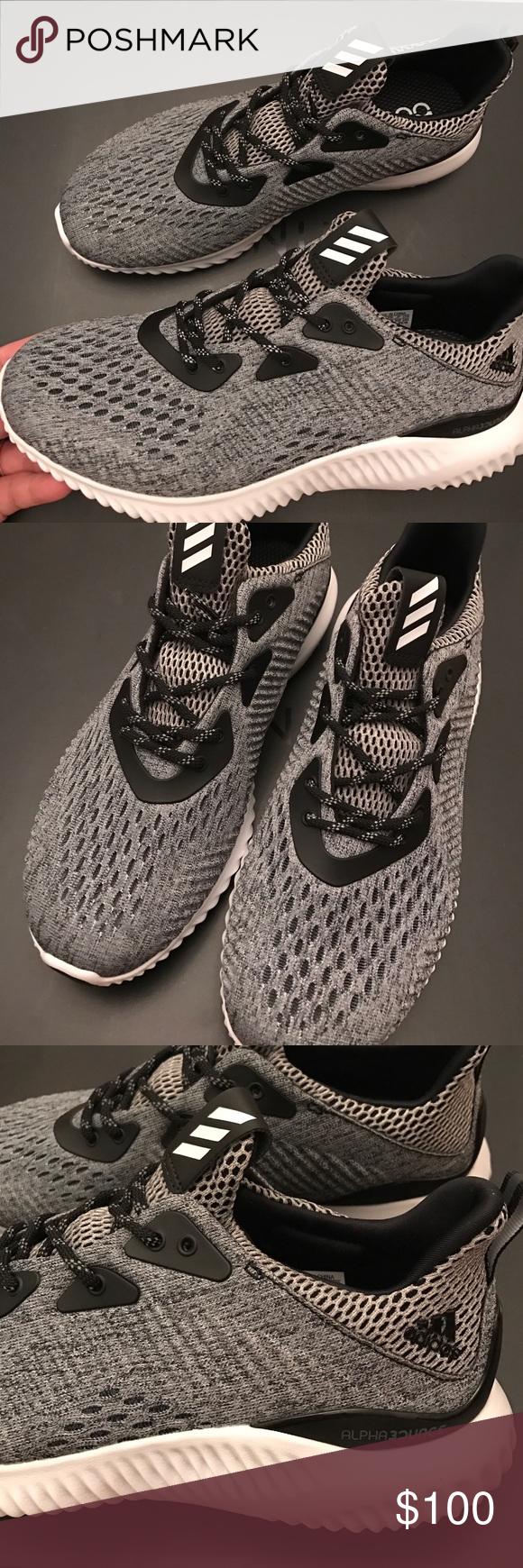 Nueva marca de Adidas AlphaBounce Mujeres zapatillas de deporte gris talla 8 NWT