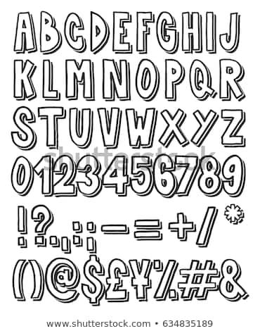 Thick Doodle Handwritten Outline with Drop Shadow Alphabet