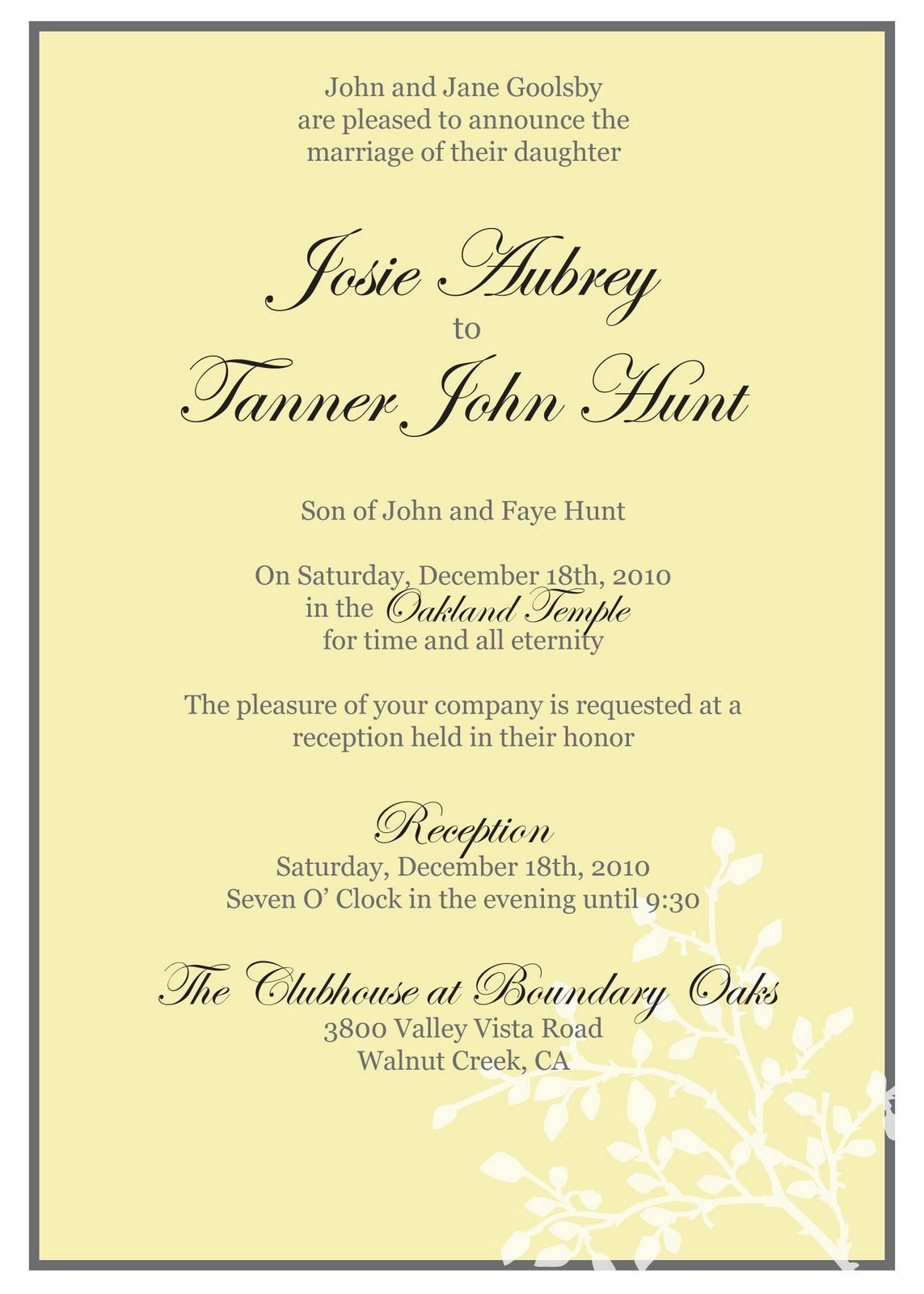 wedding: My Brother Wedding Invitation Message To Friends