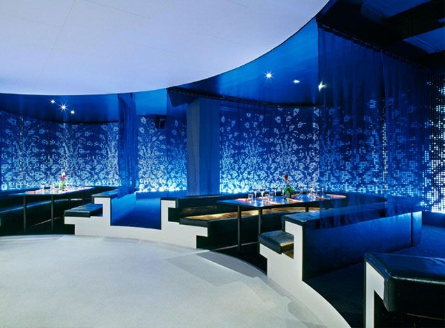 elegant modern restaurant design in sport lounge bar ideas - Blue Restaurant Ideas