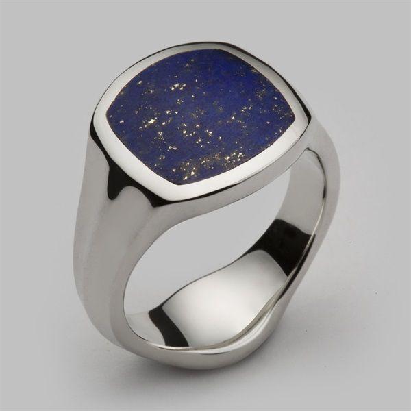 242c28576d8 Inlaid Signet Ring Silver   Lapis