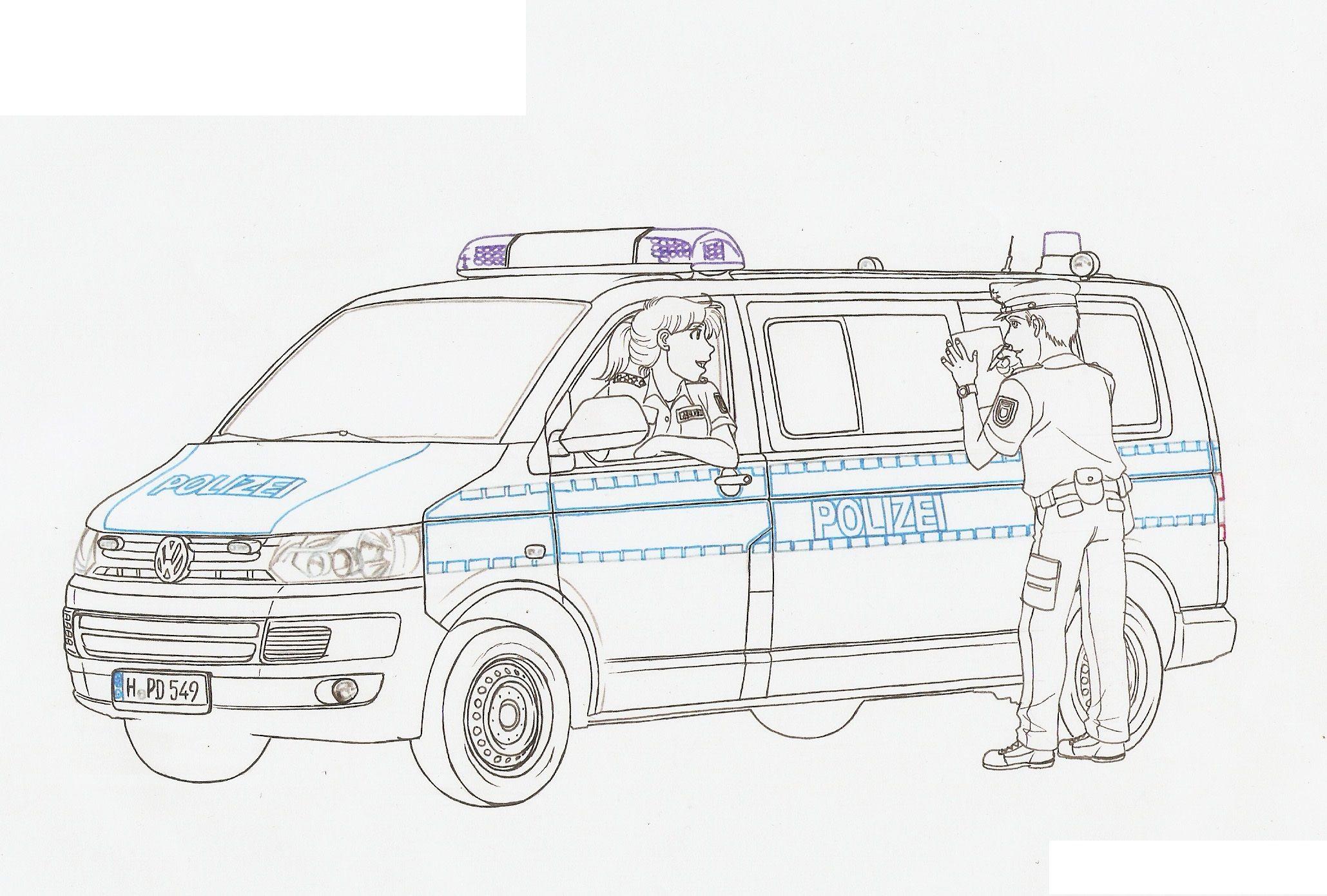 Ausmalbilder Polizei Autos  Polizeiautos, Ausmalen, Kinder