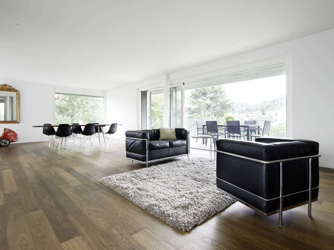 Puristisches Einfamilienhaus  homify  Wohnzimmer modern