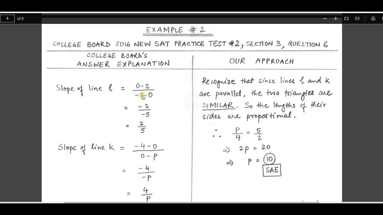 SAT Math BATTLE TIP 2: Convert Coordinate Geometry into simple