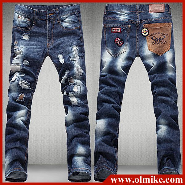 2011-Men-s-clothing-Straight-leg-jeans-man-jeans-men-s-jeans