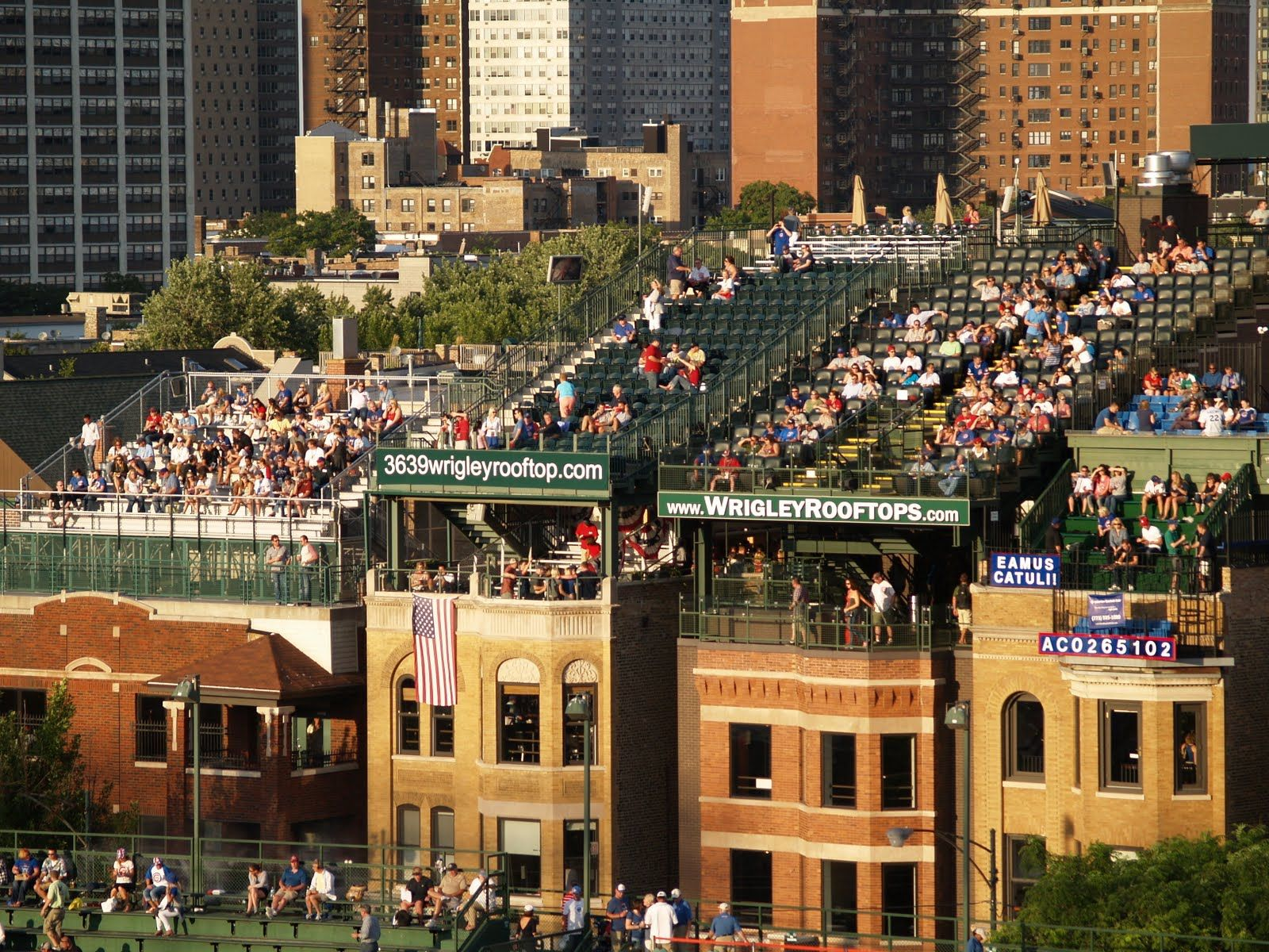 Wrigley Field Rooftop Seating  Private Residences Only In - Chicago map showing wrigley field