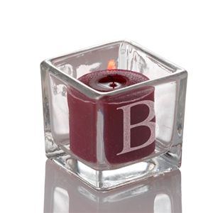 Set of 12 Engraved Square Votive Candle Holders