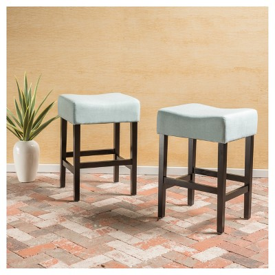 Awesome Lopez 25 75 Counter Stool Light Blue Set Of 2 Unemploymentrelief Wooden Chair Designs For Living Room Unemploymentrelieforg