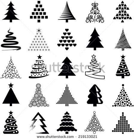 Fir Tree Black Outline Tree Outline Stock Photos Illustrations And Vector Art Christmas Tree Drawing Tree Outline Christmas Drawing