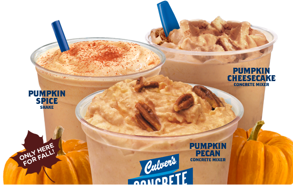 image about Culver's Printable Coupons named Culvers: Acquire Just one Take Just one Absolutely free Pumpkin Concrete Mixers