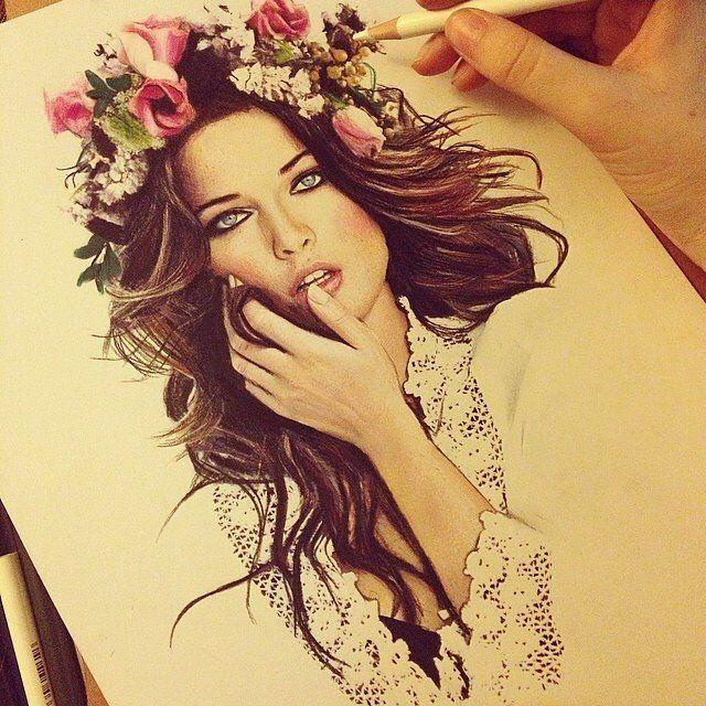 corona de flores dibujo  Buscar con Google  Flores en el pelo