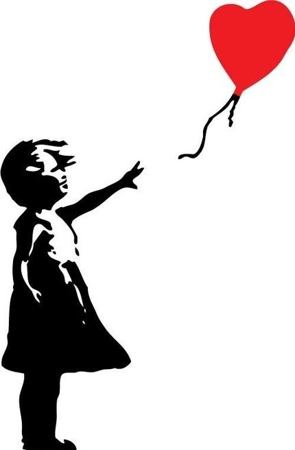 Banksy Inspired - Balloon Girl -LARGE- Interior Wall Vinyl Decal