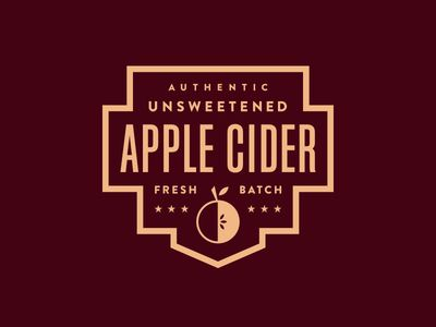 Apple Cider Label /// By Steve Wolf